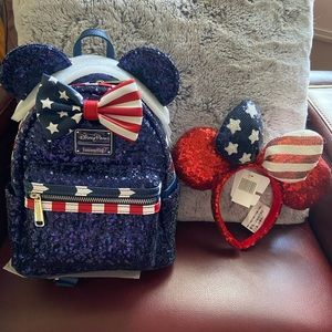 Loungefly Disney backpack and matching ears